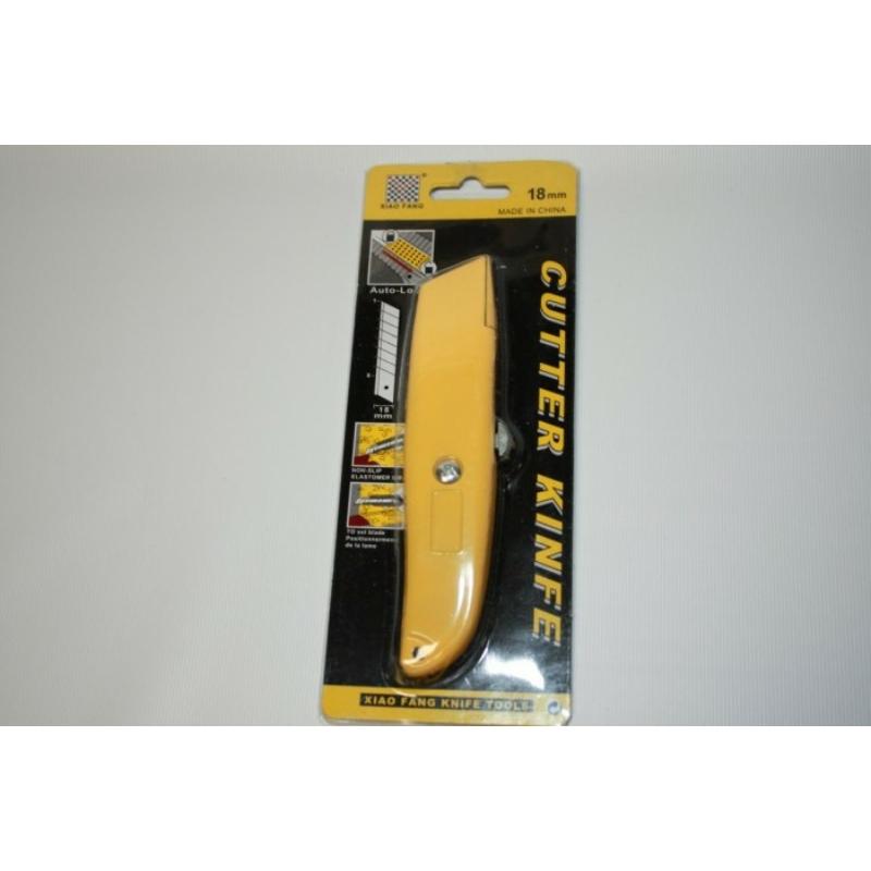 Pvc vágó fémházas kés kistolhahó pengével, sárga